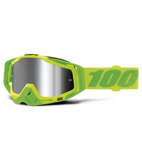 Racecraft + goggle 100% - Sour Soul // Injected silver chrome lens