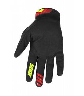 GANTS KID VENTURY BLACK RED NEON YELLOW