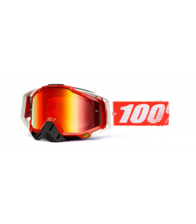 Racecraft goggle 100% - Fire Red // Mirror red  lens