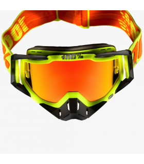 Racecraft goggle 100% - Attack Yellow // Mirror red lens